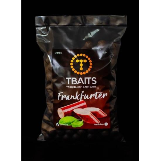 Пакет протеинови топчетаT-BAITS Frankfurter, 20 mm, 1 kg